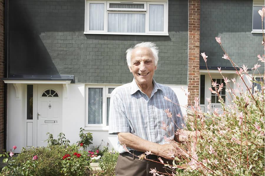 Housing association resident