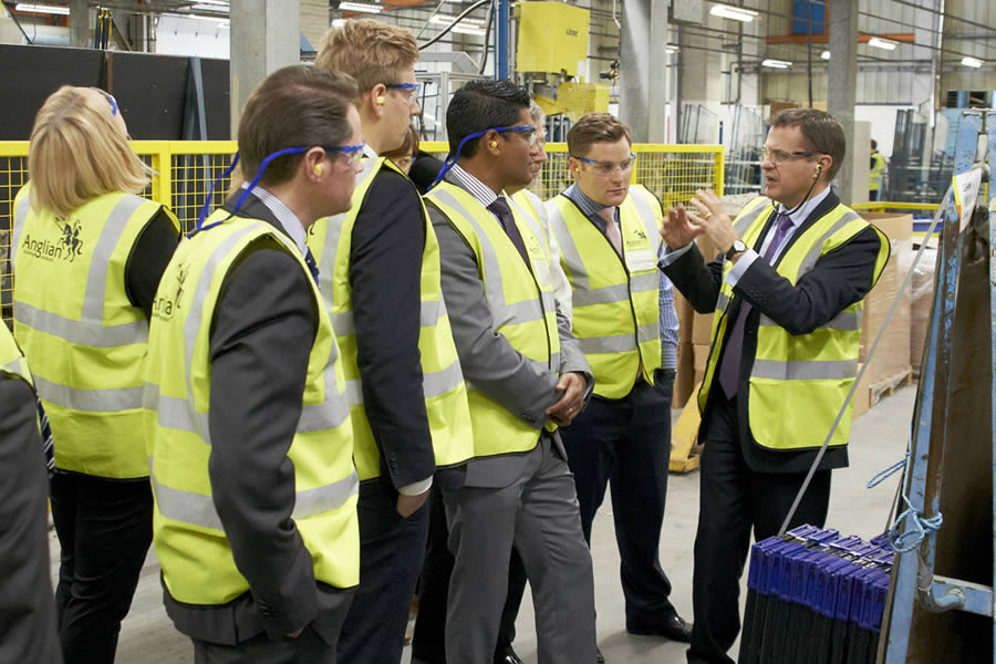 LHC team visits Anglian manufacturing operations
