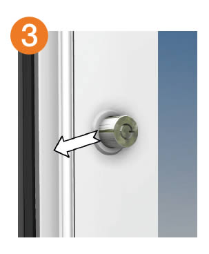 To lock once the sliding door is closed simply push the plunger closed.  sc 1 st  Anglian Building Products & Opening and closing doors - Anglian Building ProductsAnglian ...